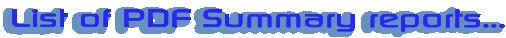 List of PDF Summary reports…